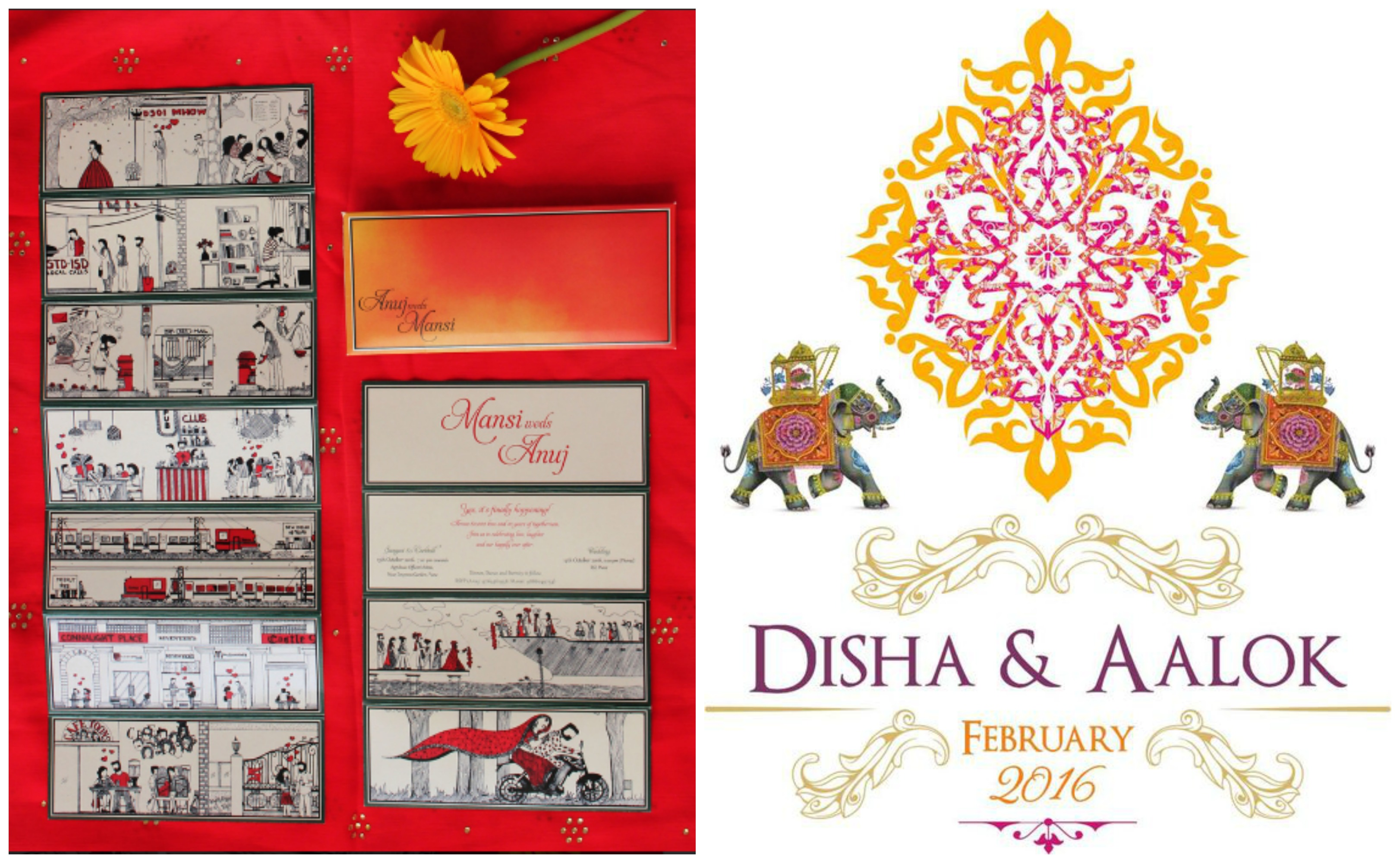Indian Cartoon Wedding Invitations Inspiration - Frugal2Fab