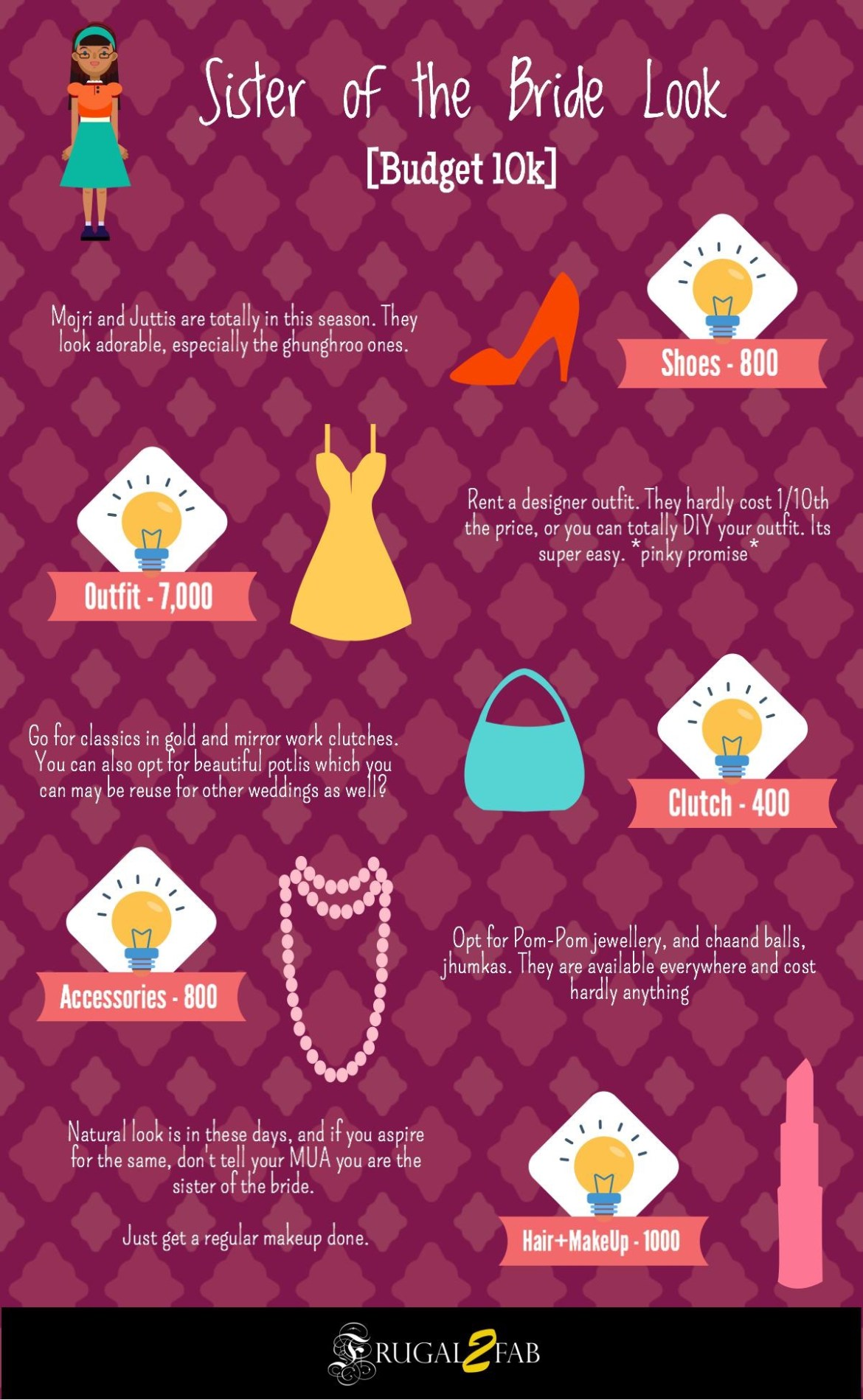 How to be a pataka sister of the bride in budget 10k - Frugal2Fab