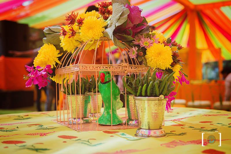 colourful summer mehendi ceremony
