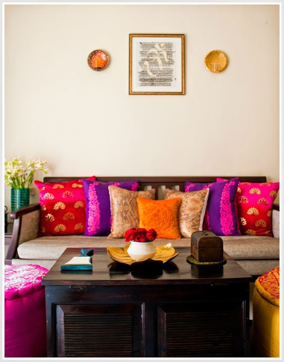 How to reuse an old saree in 18 different ways frugal2fab for Living room ideas indian style