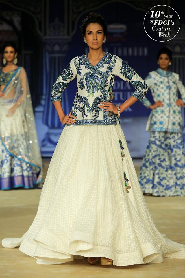 peacock coloured lehengas
