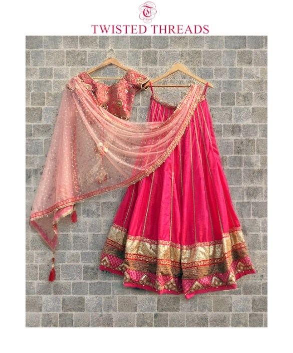 Pink Twisted Threads Lehenga