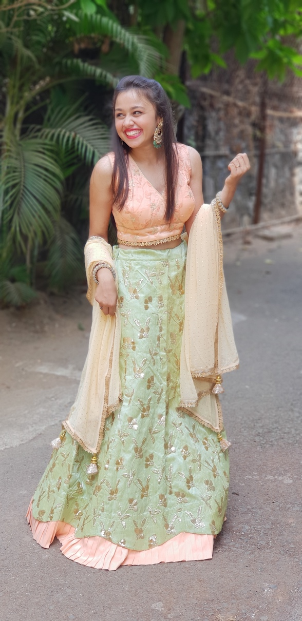 Mint Green Lehenga Embellished Stories