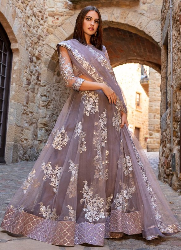 Dusty Purple Lehenga