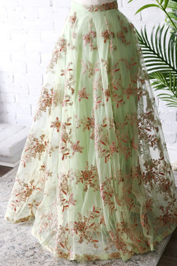 Mint Green Lehenga Skirt