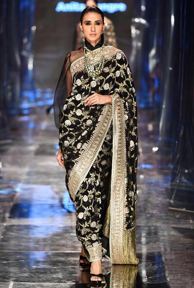 Black Anita Dongre Saree