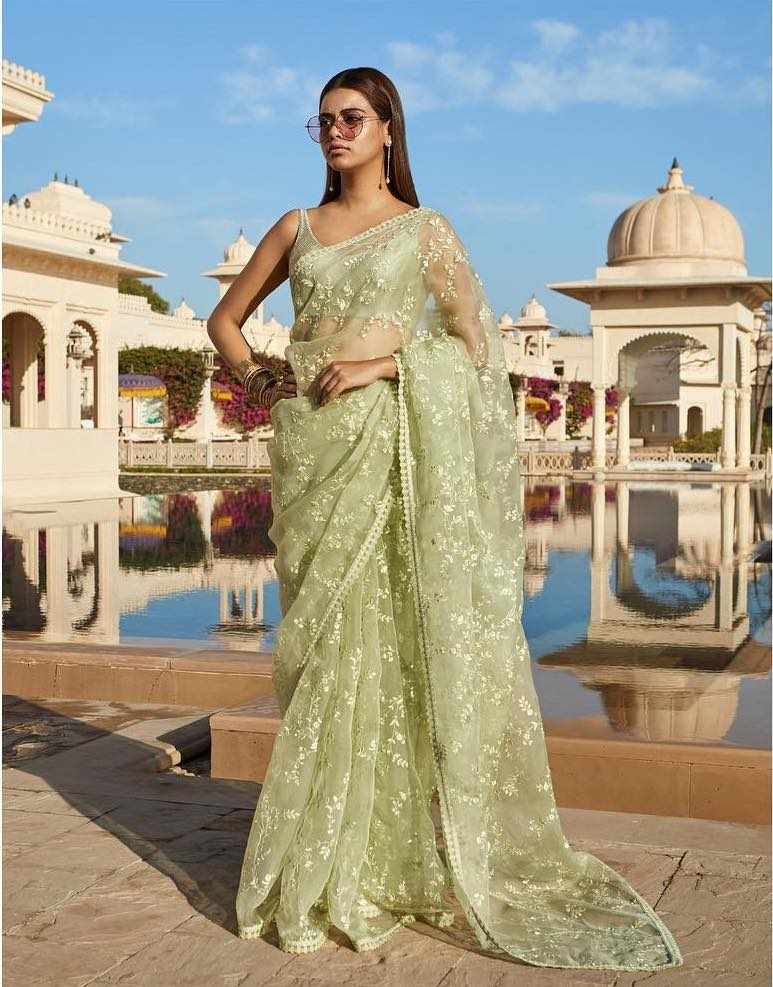 Sabyasachi Green Summer Saree