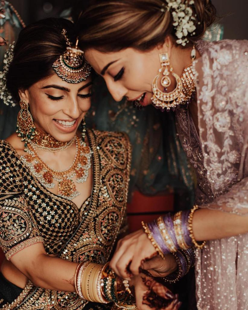 Sabyasachi Bride in Green Lehenga