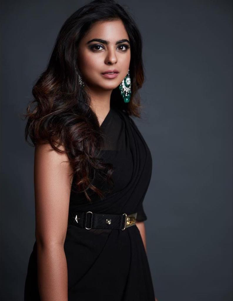Isha Ambani in Black Sabyasachi Saree