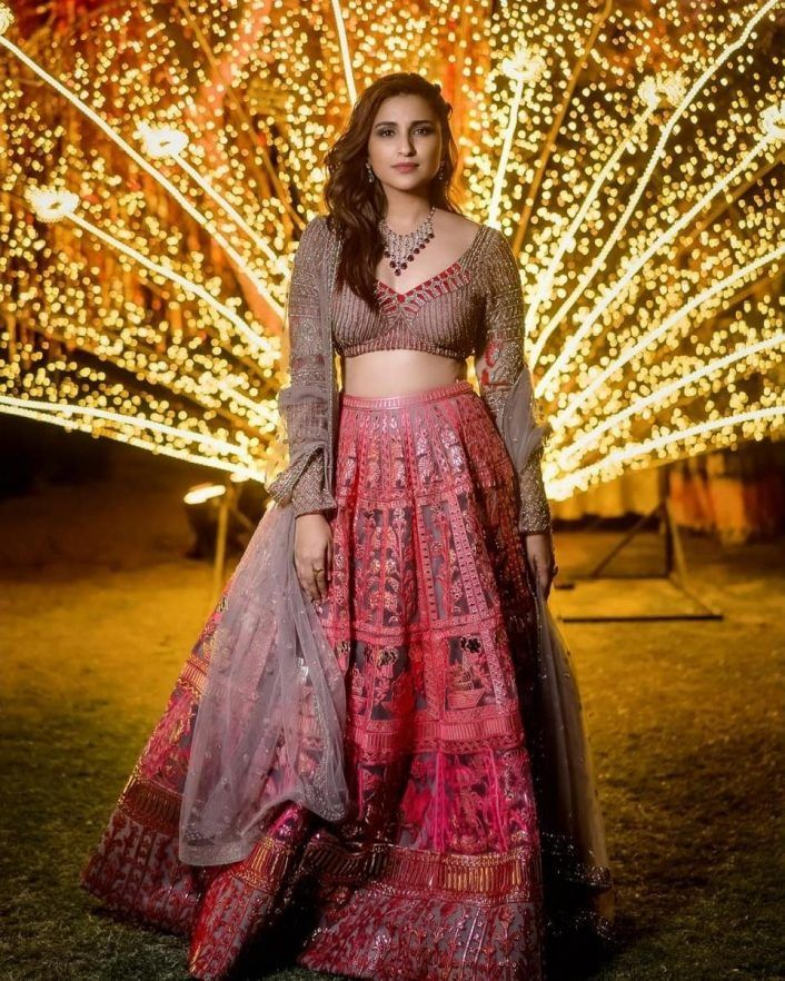 Parineeti Chopra in Falguni Shane Peacock Lehenga