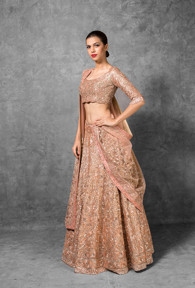 Coral Wedding Lehenga