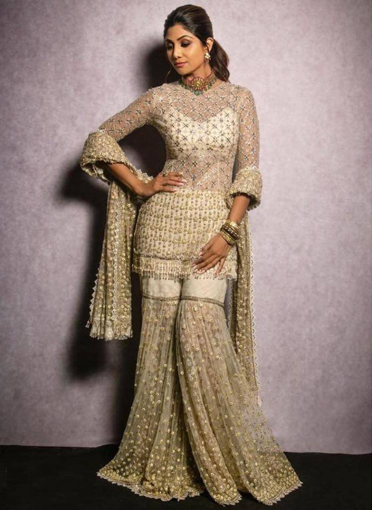 Shilpa Shetty in Tarun Tahiliani