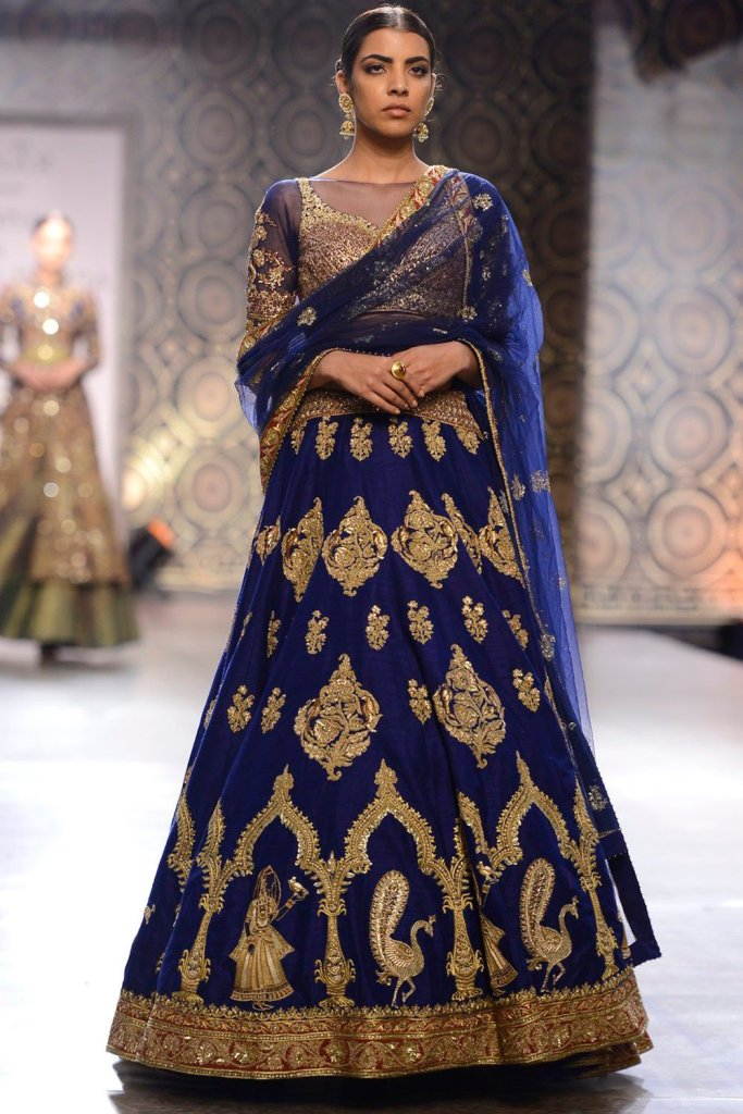 Rimple Harpreet Blue Wedding Lehenga