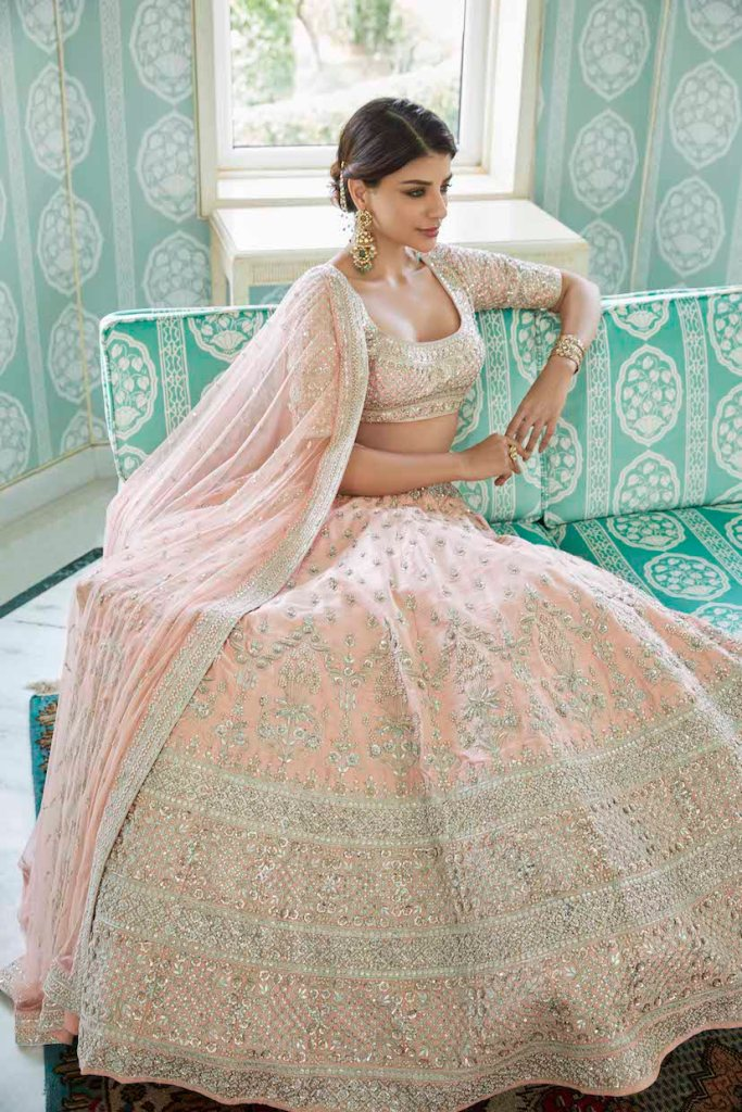 Baby Pink Wedding Lehenga