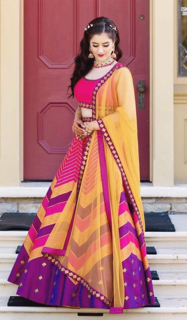 Priyal Prakash Multi Coloured Lehengas