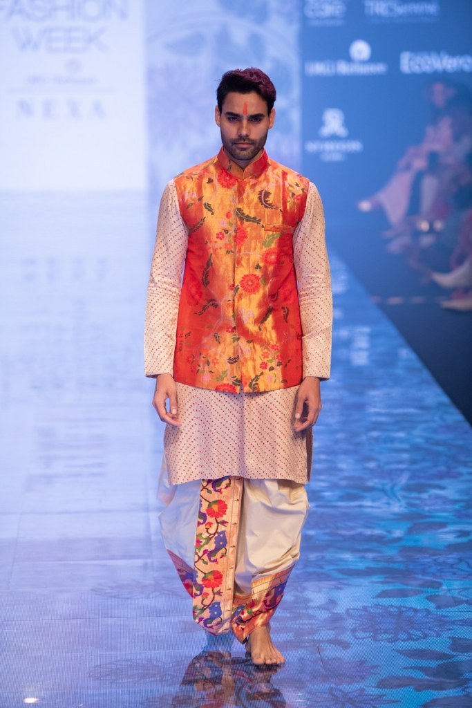 menswear paithani outfit