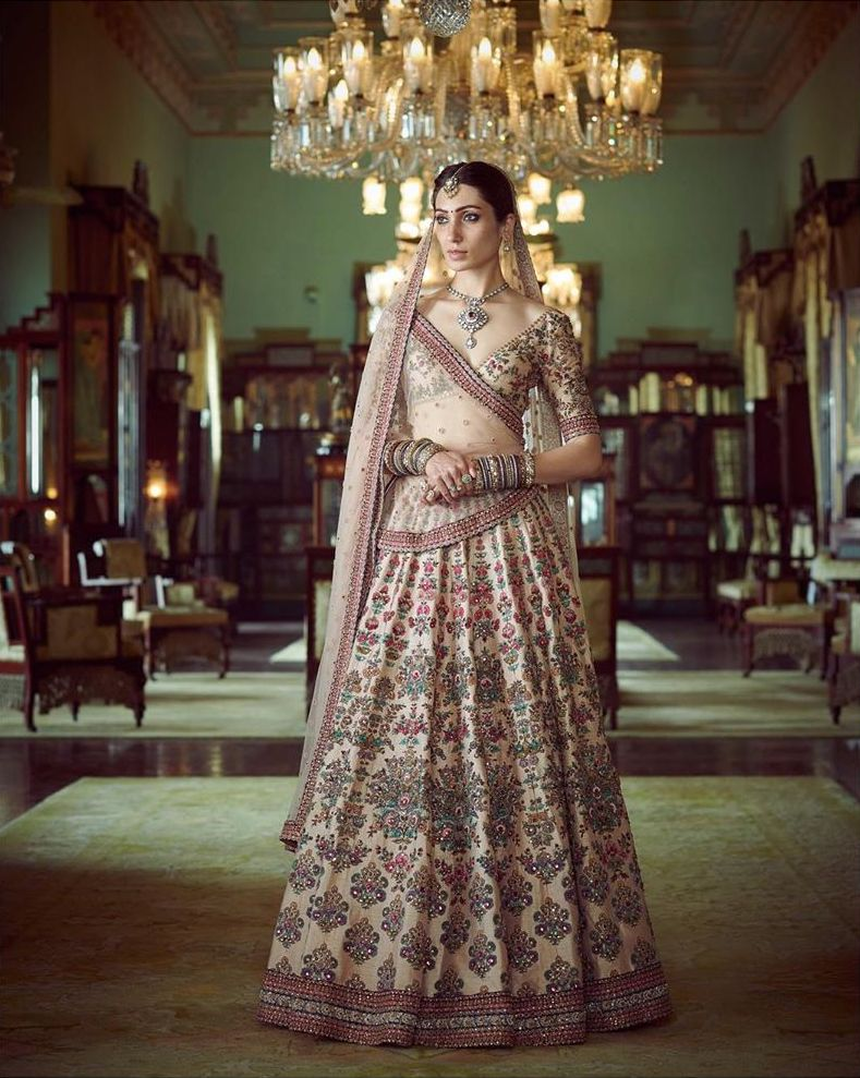 Pearl pink summer bridal wear