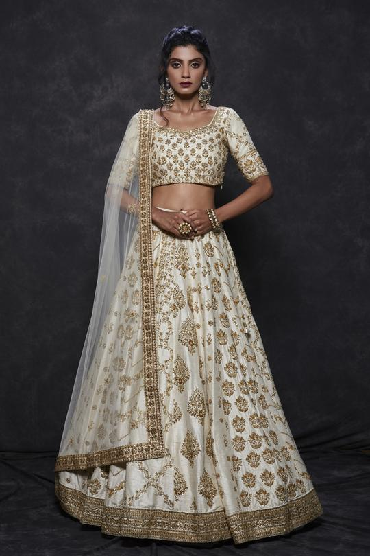 Ivory & Gold Bridal Lehenga Set