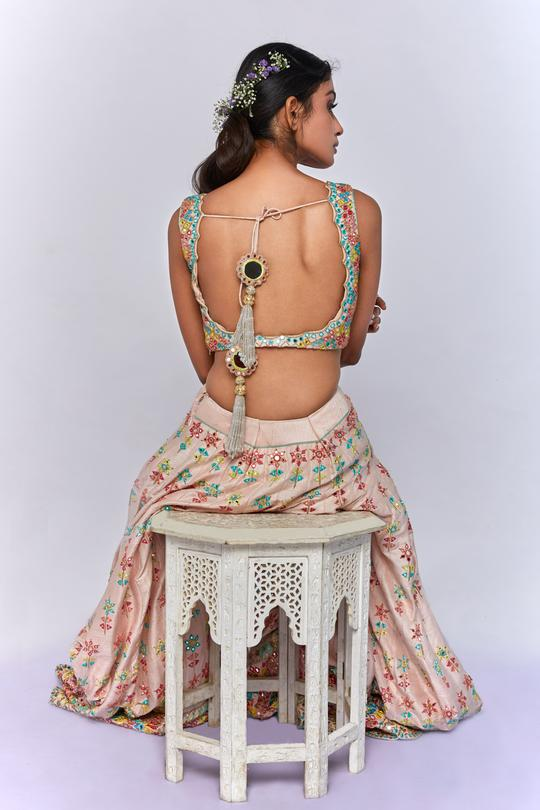 Colourful Mirror Work Bridal Lehenga Set