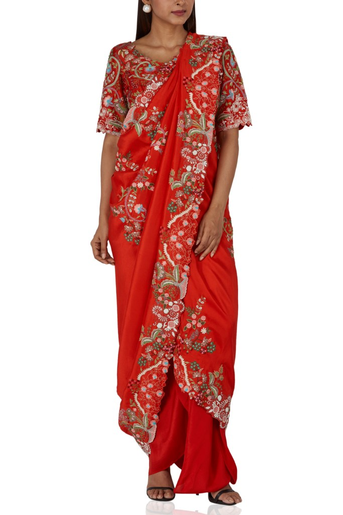 Anamika Khanna Pre-Draped Saree Price