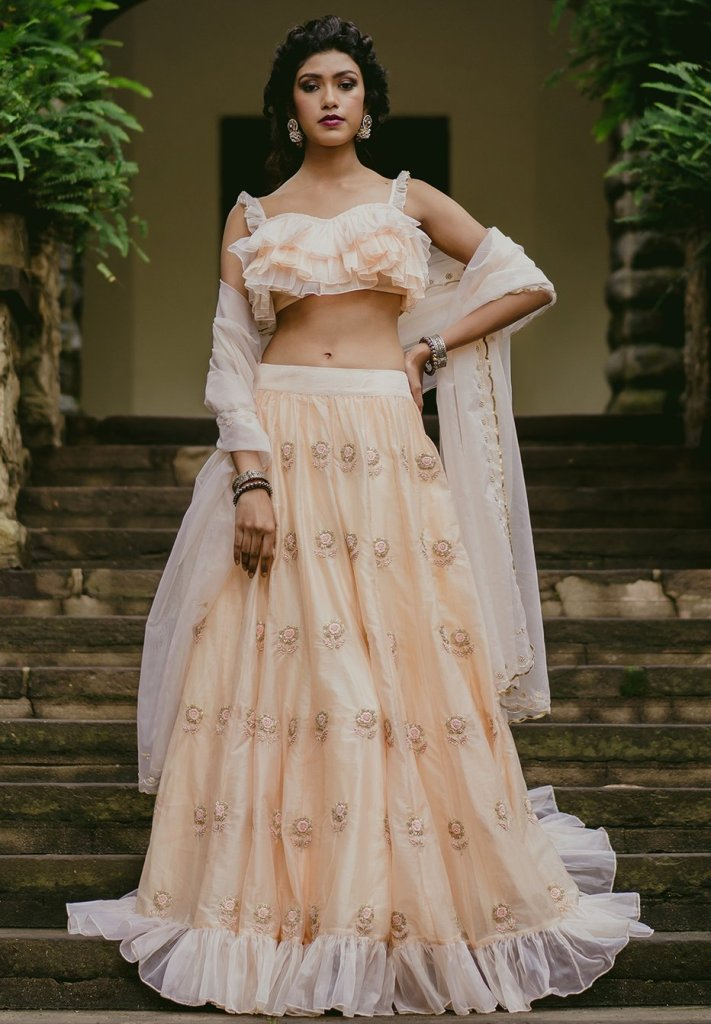Paulmi and Harsh Lehenga