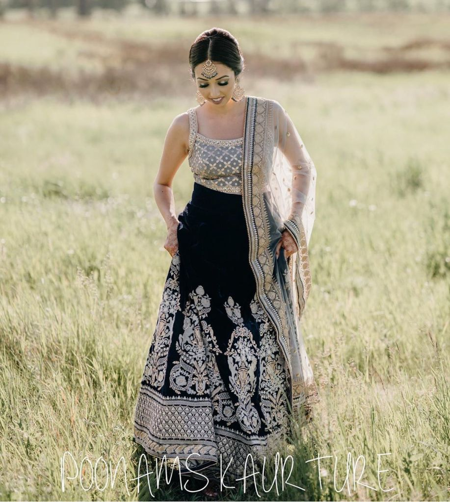 Black embroidered lehenga