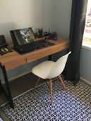 This desk ($169) and chair ($50) are from Office Works
