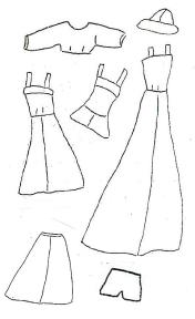 Dolls & Books; free doll clothes patterns