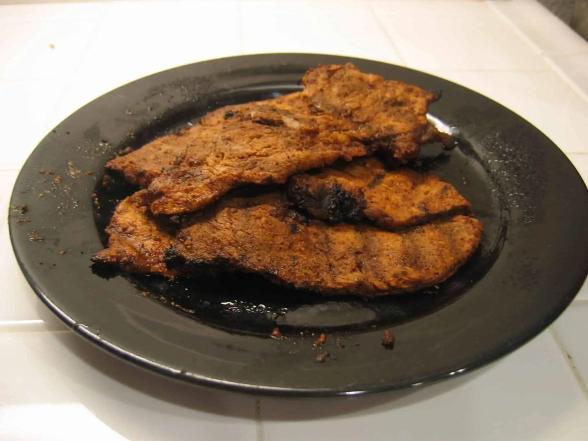 Pork adobada on a plate