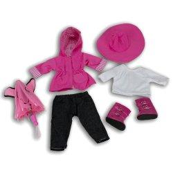 doll american clothes dolls rain boots umbrella jacket coat includes hat pants reg outfit shirt na