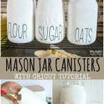Rae Dunn Style Chalk Paint Diy Mason Jar Canisters Kitchen Svg Files
