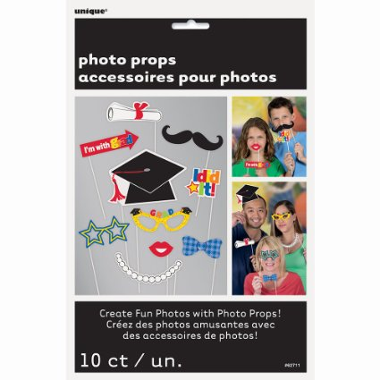 Graduation Photo Booth Props, 10pc — only $2.76 !!