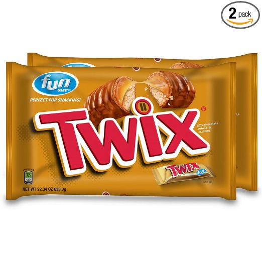 50% off Candy! LARGE size, Nestles (crunch, butterfingers & More) OR 2 bags of TWIX