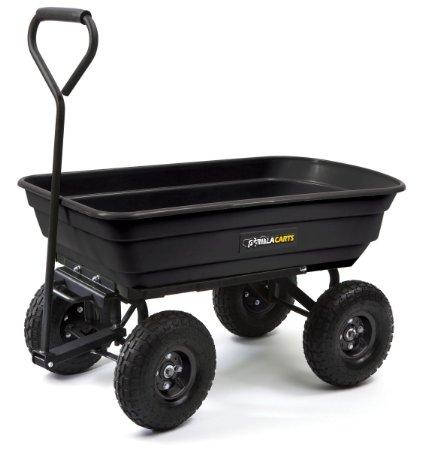 45% off Gorilla Cart – Dump & Pull cart, steel! Only $60!!