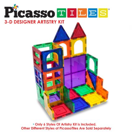 58% off this 42 piece Picasso Tiles – Magna Tiles set only $32.99!!