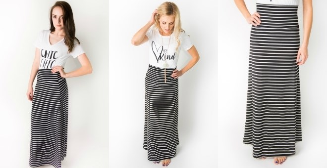 Jane.com + FREE shipping! Striped Maxi Skirt – only $11.99 (reg. $25!)
