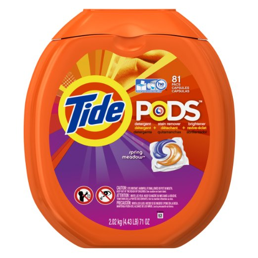 Amazon: Tide PODS HE Turbo Laundry Detergent Pacs 81-load Tub Only: $13.80