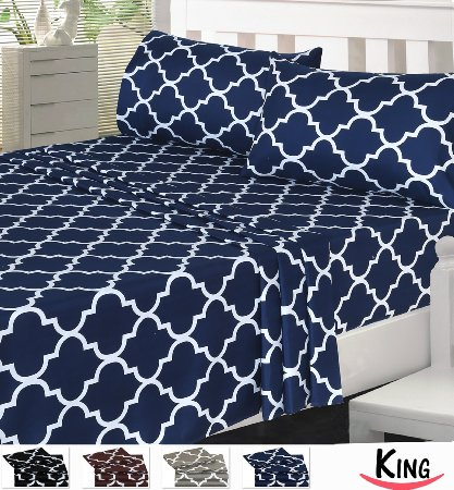 Amazon: Printed Microfiber soft – wrinkle & stain resistant bed sheets only $15-18 for ALL sizes!!