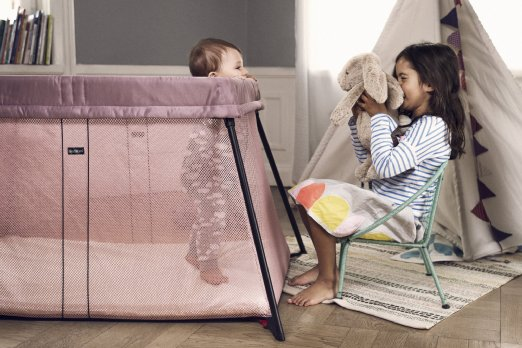 Amazon: BABYBJORN Light Travel Crib, Pink — only $219 (reg. $300+) after $25 coupon!!