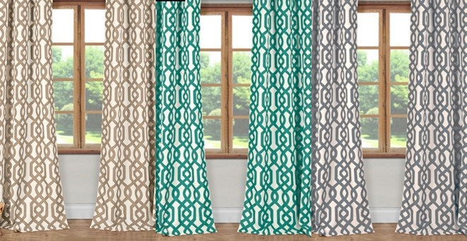 Trendy Blackout Geometric Curtains | Set of 2 – only $19.99 for the set!