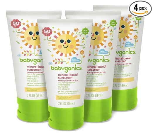 COUPON BACK! Babyganics Mineral-Based Baby Sunscreen Lotion, SPF 50, (Pack of 4) – Only $10.38!!
