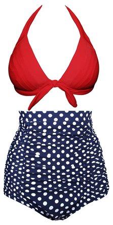 Women Retro Vintage High Waisted Bikini Swimsuits – Only $19.99!
