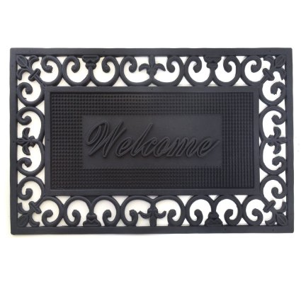Amazon: 52% off! Decorative 'Welcome' Rubber Doormat/Entry Mat – only $6.59!!