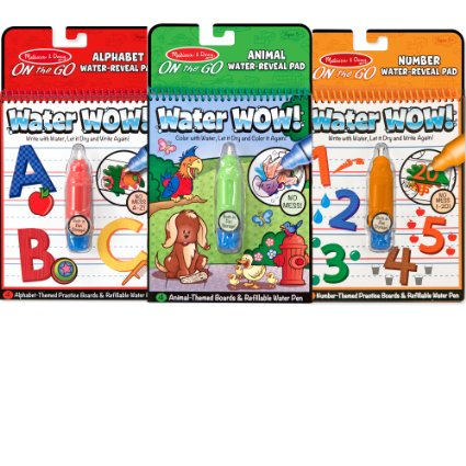 Melissa & Doug On The Go Water Wow –  3 pack only $11.99!! Reg $5-7 each!!