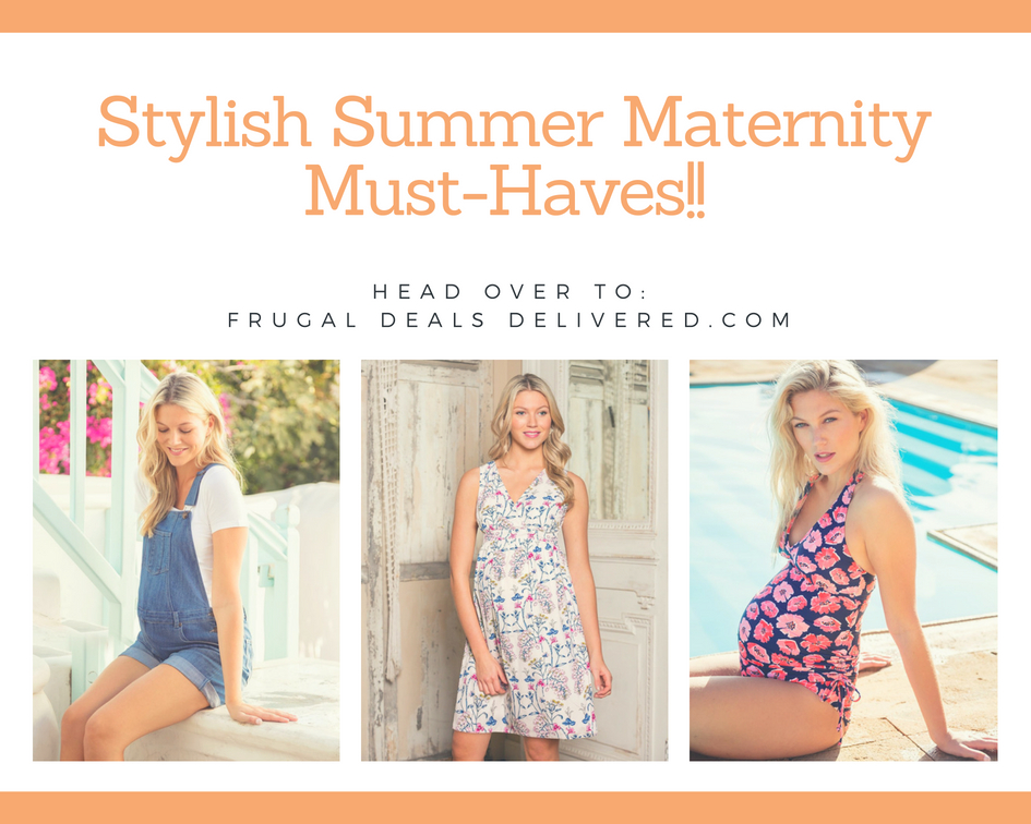 Stylish Summer Maternity Must-Haves!! Bathing Suits, Overalls & Dresses.. OH MY!