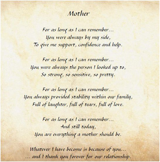 PERSONALIZED MOTHERS DAY POEM REVIEW  GIVEAWAY  Frugal