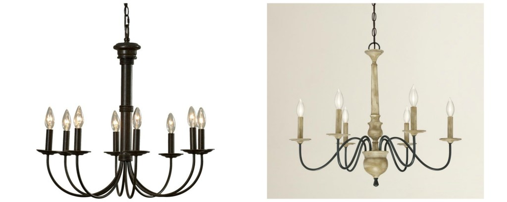 Farmhouse Chandeliers, Farmhouse Lighting, Lighting for Less, Lighting for small budgets