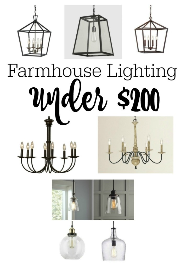 Farmhouse Lighting for Less, Farmhouse Lighting under 200 dollars, Under $200
