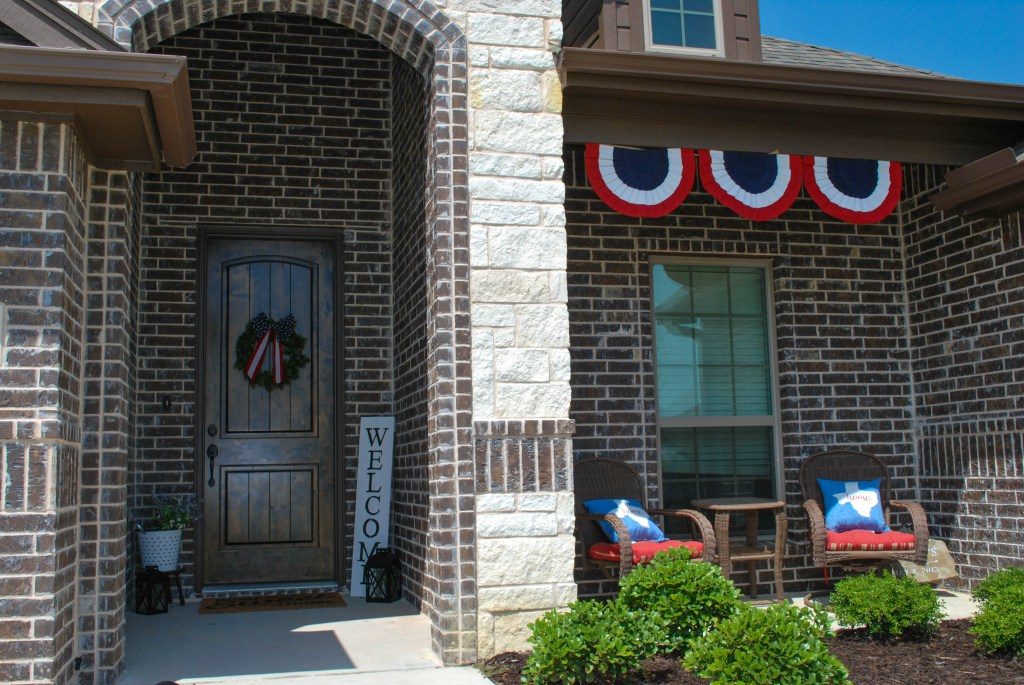 Patriotic Decor, July Goals, 4th of July