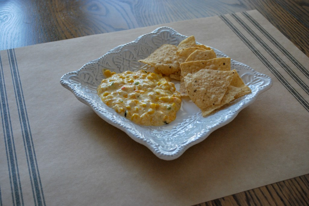 Warm Corn Dip, Quick and Easy Appetizer, Fall Appetizer, Gameday